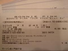 BONNIE PINK TOUR 2004
