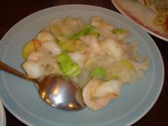 大正海老と空豆の炒め物