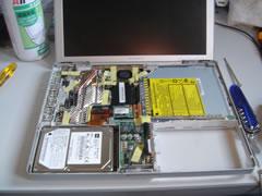 """PowerBook G4 12"""" 分解中"""