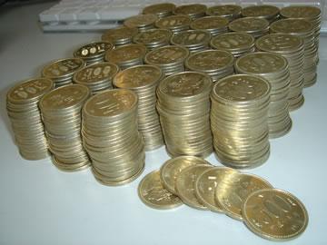 500円玉たち