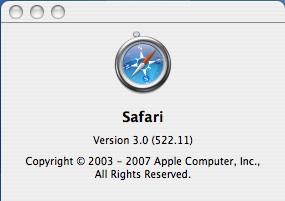 Safari 3 Public Beta