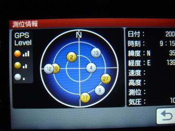 NV-U2 測位情報画面