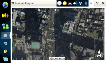 N810 Maemo Mapper / Google Maps Satellite