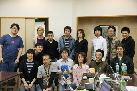 CakePHP開発合宿 参加者全員で記念撮影