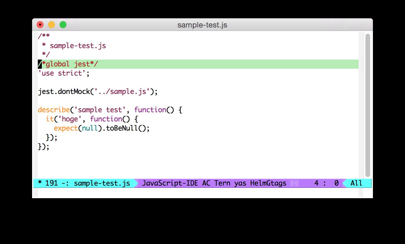 Emacs js3-mode