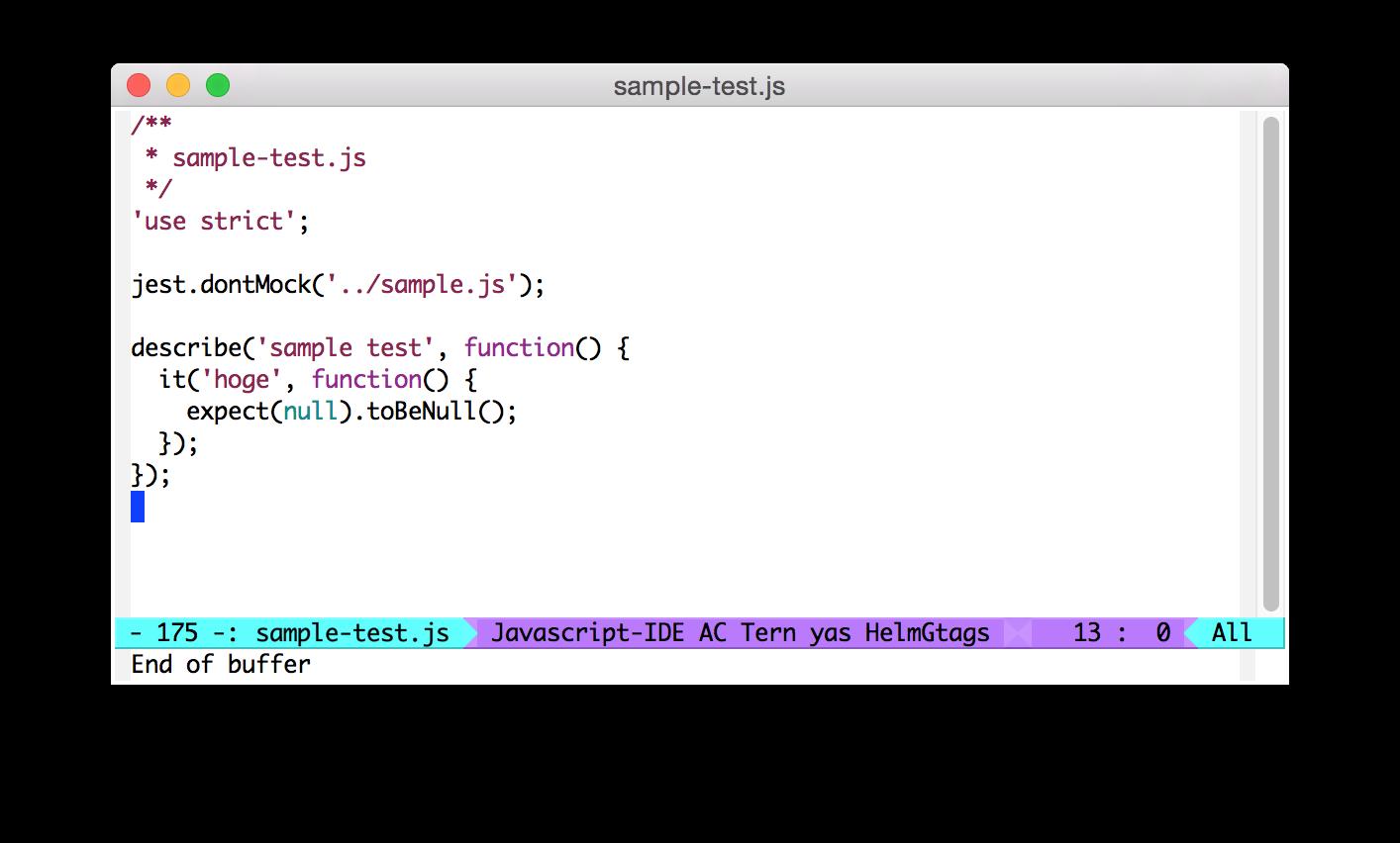 Emacs js2-mode